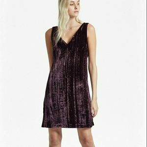 NWT sz 0 French Connection purple velvet dress